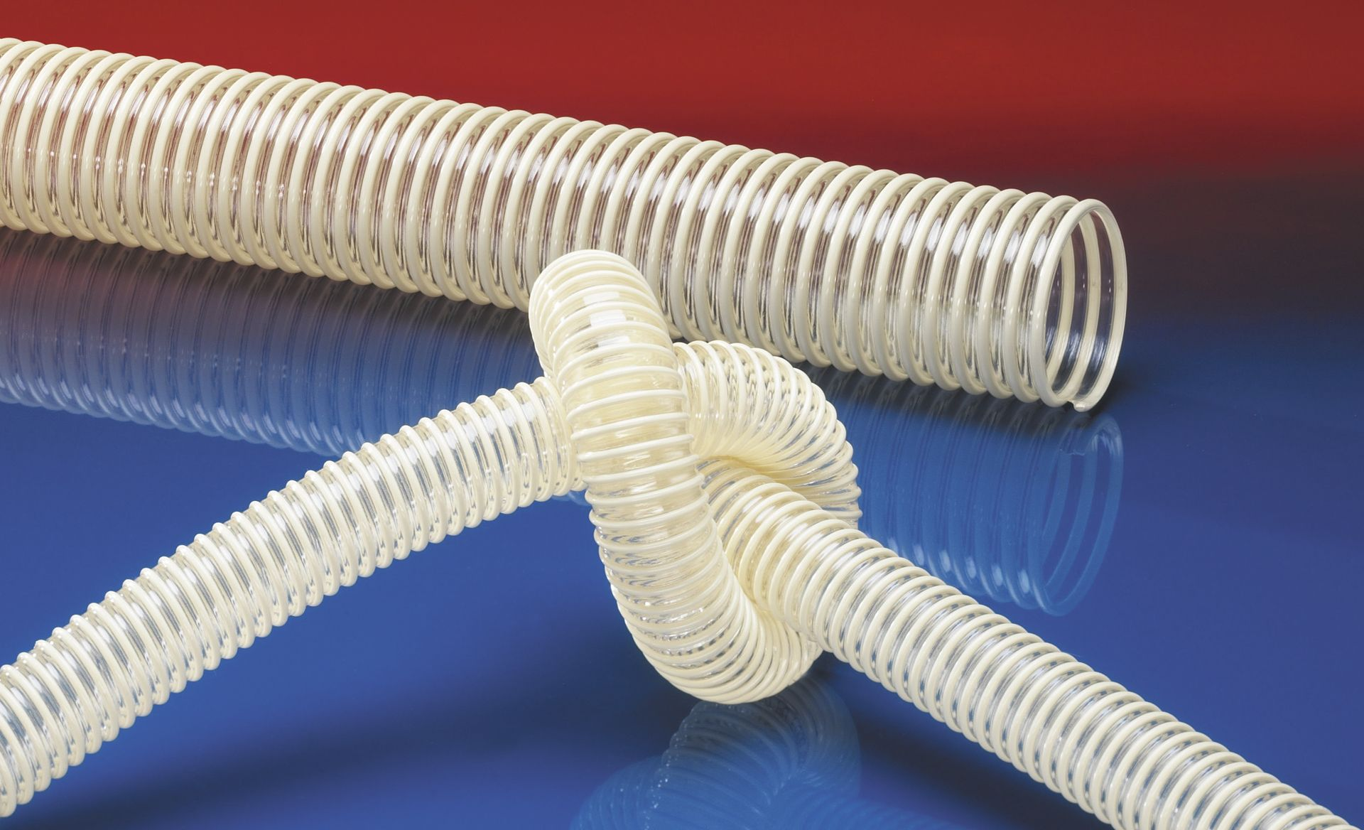 NORRES Lightweight Food-Grade Ducting Hose for Granulate and Gases 3 ID 50 ft