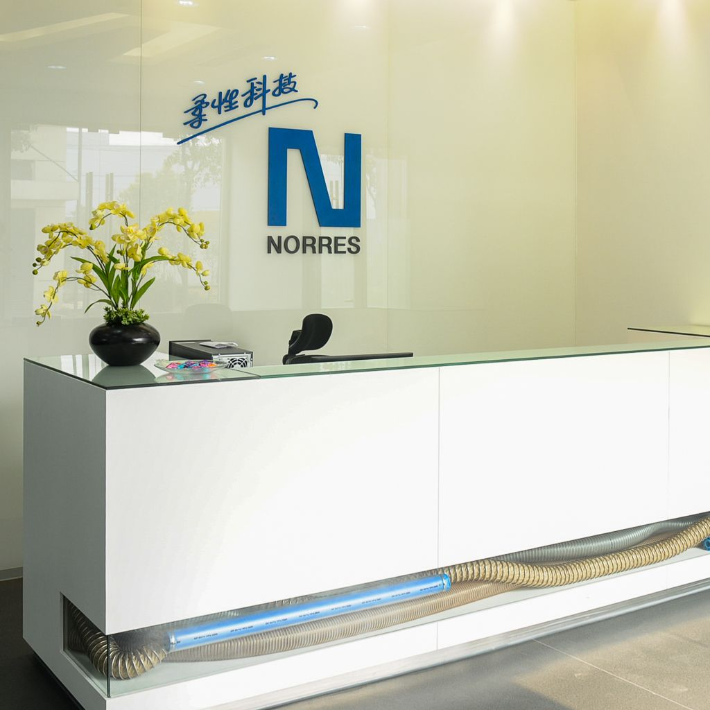 NORRES China welcome desk